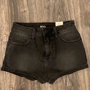NWT Urban Outfitters Black denim shorts